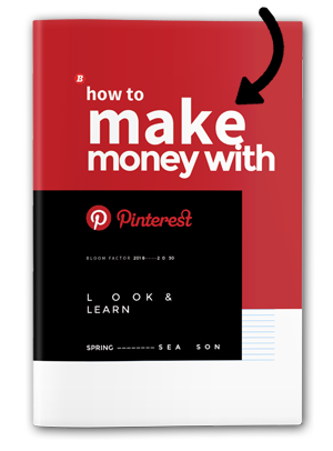 How to make money on Pinterest. The eBook from Bloom Factor