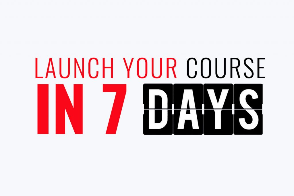 Launch Your Course in 7-Days by Bloom Factor