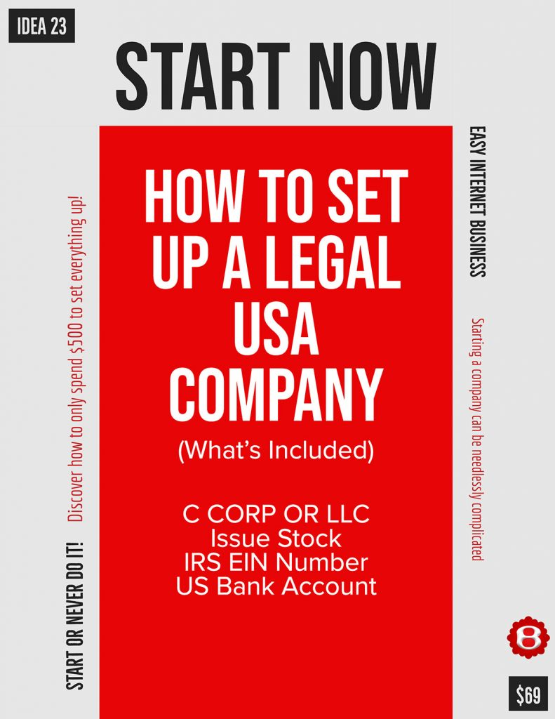 How to Start a USA Corp/LLC without leaving home